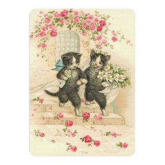 Gatitos del boda del vintage invitacion personal
