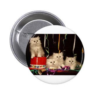 Gatitos del fiesta de Noche Vieja Pin
