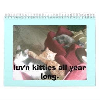 gatitos del luv n todo el año de largo calendario