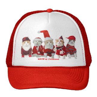 Gatitos del navidad gorras de camionero