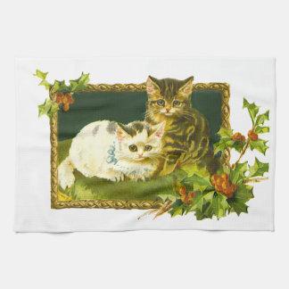 Gatitos del navidad toallas de cocina
