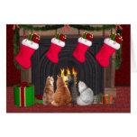 Gatitos del navidad tarjeta de felicitación