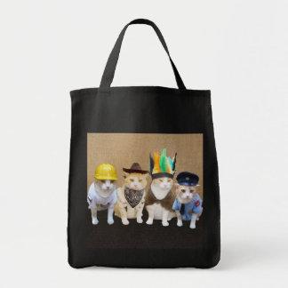 Gatitos del pueblo bolsa tela para la compra