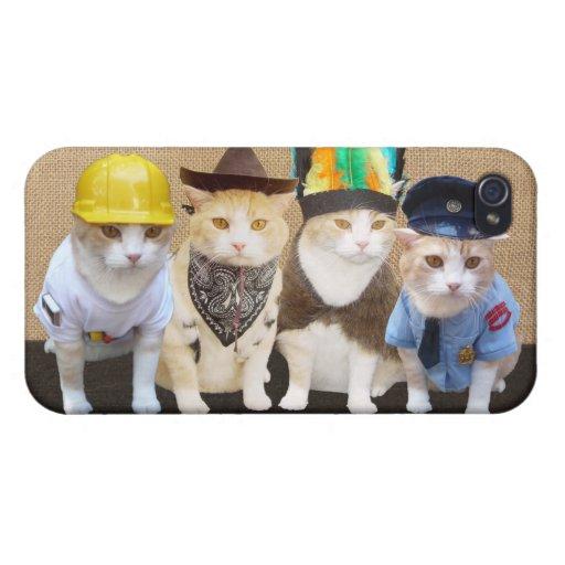 Gatitos del pueblo iPhone 4 funda