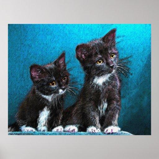 gatitos del smoking póster