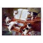 Gatitos en las llaves tarjetón