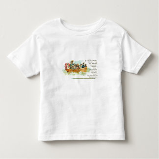 Gatitos en un barco de fila playera de bebé