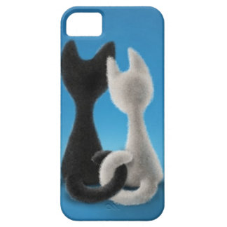 Gatitos entrelazados iPhone 5 carcasas
