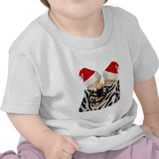Gatitos festivos lindos en bolso del estampado de  camiseta