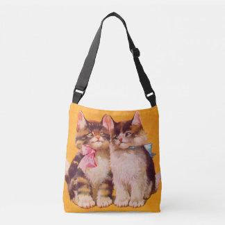 gatitos floofy adorables de los años 30 bolsa cruzada