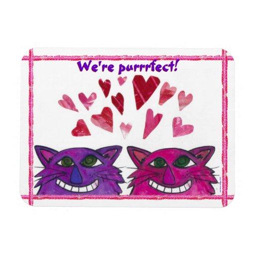 ¡Gatitos golpeados violentamente - somos Purrrfect Imán