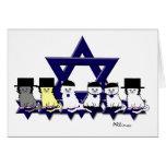 Gatitos kosher en una fila tarjeta de felicitación