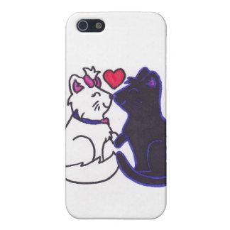 gatitos lindos/gatitos del el día de San Valentín iPhone 5 Protectores