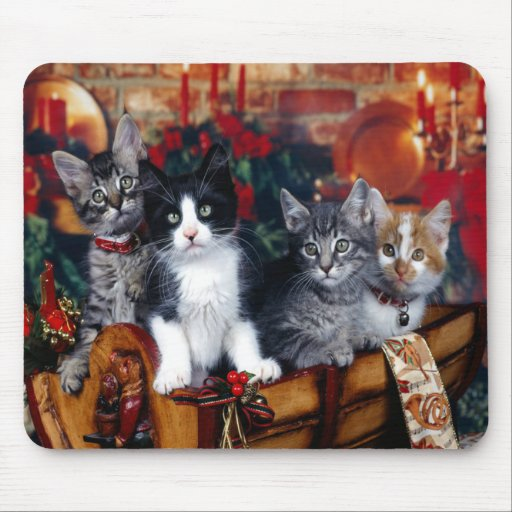Gatitos Mousepad del navidad Tapete De Ratón