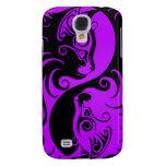 Gatitos púrpuras y negros de Yin Yang