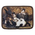 Gatitos que juegan en una cesta planificador