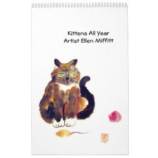 Gatitos todo el año - calendario 2014