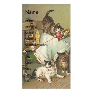 Gatitos traviesos tarjetas de visita