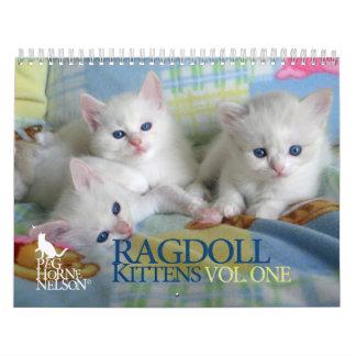 Gatitos vol de Ragdoll Un calendario