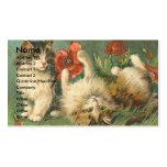 Gatitos y amapolas del vintage tarjeta de visita