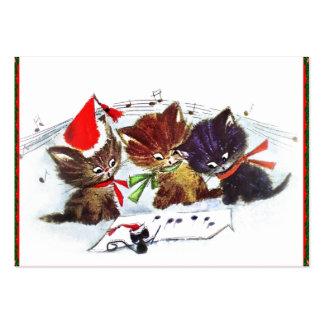 Gatitos y ratón del maestro tarjetas de visita grandes