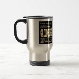 Gatlinburg City of Tennessee Typography Art Travel Mug