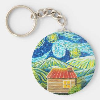 Gatlinburg Scene Basic Round Button Keychain