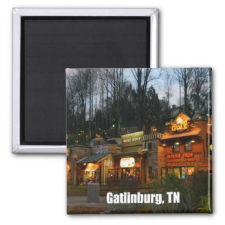Gatlinburg, Tennessee 2 Inch Square Magnet
