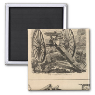 Gatling Gun Company Schuyler, Hartley and Graham 2 Inch Square Magnet
