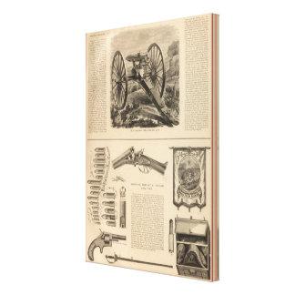 Gatling Gun Company Schuyler, Hartley and Graham Canvas Print