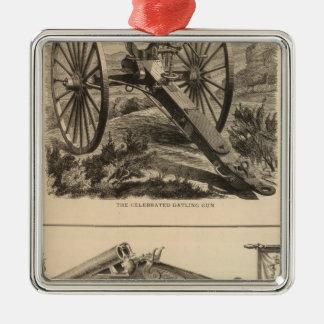 Gatling Gun Company Schuyler, Hartley and Graham Metal Ornament