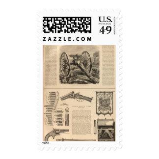 Gatling Gun Company Schuyler, Hartley and Graham Postage Stamp