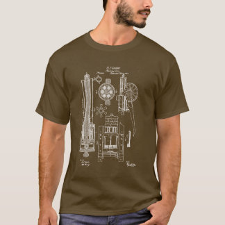 Gatling Gun US Patent T-Shirt