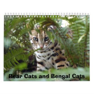 Gato 022 de Bengala, gatos de oso y gatos de Benga Calendarios