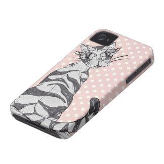 Gato 02 de Missy Carcasa Para iPhone 4 De Case-Mate