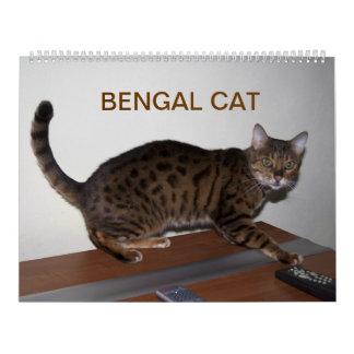 Gato 2015 de Bengala Calendario De Pared