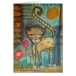 gato 5 x 7 del EL Tarjeta De Felicitación
