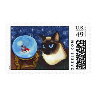 Gato A de la fantasía de la fortuna de Koi de la Estampilla