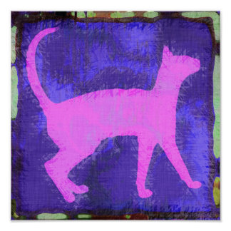 Gato abstracto posters