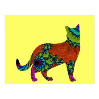 Gato abstracto tarjetas postales