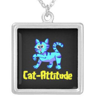 Gato-Actitud Colgante Cuadrado