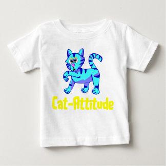 Gato-Actitud Playera De Bebé