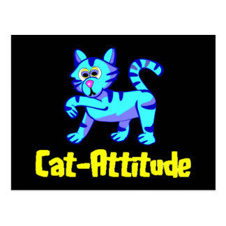 Gato-Actitud Tarjetas Postales