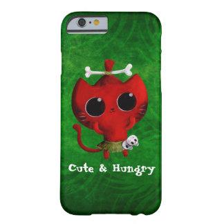 Gato adorable de Halloween del caníbal Funda Barely There iPhone 6