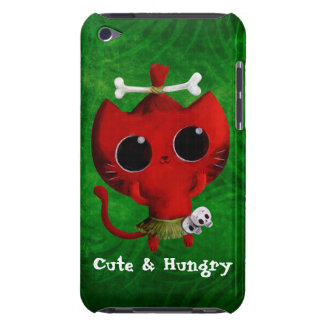 Gato adorable de Halloween del caníbal Funda Para iPod De Barely There