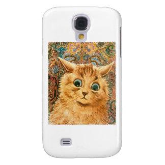 Gato adorable del papel pintado de Louis Wain Carcasa Para Galaxy S4