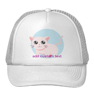 Gato adorable lindo del gatito gorros bordados