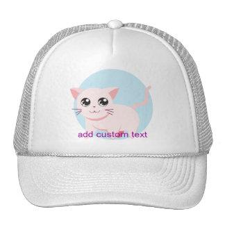 Gato adorable lindo del gatito gorras de camionero