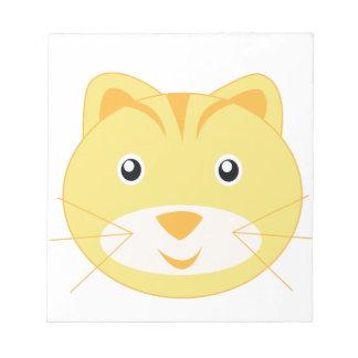 Gato adorable poco parque zoológico bloc de papel