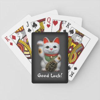 Gato afortunado cartas de juego